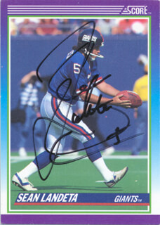 SEAN LANDETA - TRADING/SPORTS CARD SIGNED