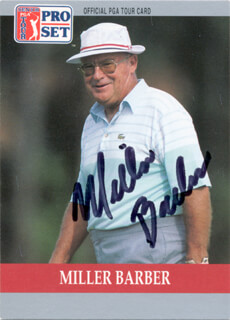 Autographs: MILLER BARBER - TRADING/SPORTS CARD SIGNED
