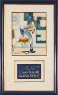 NOLAN RYAN - AUTOGRAPHED SIGNED PHOTOGRAPH