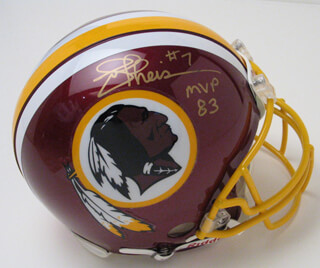 JOE THEISMANN - HELMET SIGNED