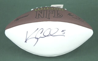 KERRY COLLINS - FOOTBALL SIGNED