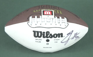 ZACK CROCKETT - FOOTBALL SIGNED