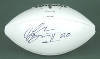 RALPH BROWN II - FOOTBALL SIGNED