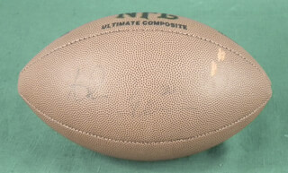 AHMAN GREEN - FOOTBALL SIGNED