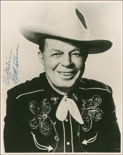 HOOT (EDMUND) GIBSON - AUTOGRAPHED INSCRIBED PHOTOGRAPH