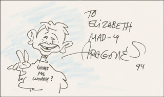 SERGIO ARAGONES - INSCRIBED ORIGINAL ART SIGNED 1994