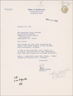 PRESIDENT RONALD REAGAN - TYPED LETTER SIGNED