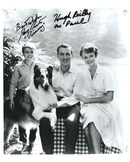 LASSIE TV CAST - AUTOGRAPHED SIGNED PHOTOGRAPH CO-SIGNED BY: JON PROVOST, HUGH REILLY