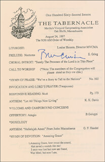 PRESIDENT WILLIAM J. BILL CLINTON - PROGRAM SIGNED