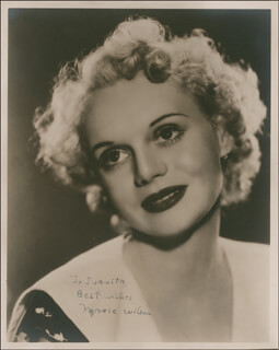 MARIE WILSON - AUTOGRAPHED SIGNED PHOTOGRAPH