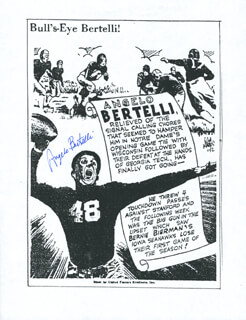ANGELO B. ACCURATE ANGELO BERTELLI - PHOTOCOPY SIGNED IN INK