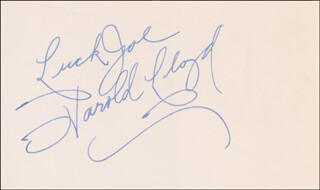 HAROLD LLOYD - AUTOGRAPH NOTE SIGNED