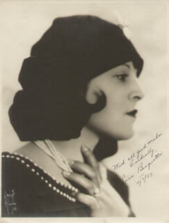 LINA BASQUETTE - AUTOGRAPHED SIGNED PHOTOGRAPH 11/7/1927