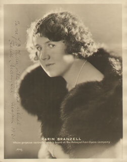 KARIN BRANZELL - AUTOGRAPHED INSCRIBED PHOTOGRAPH 1931