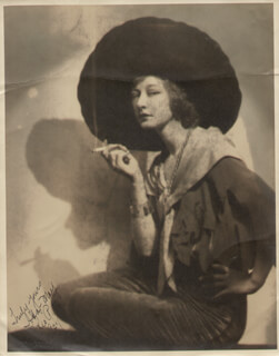 ADA-MAY WEEKS (CASTEGNARO) - AUTOGRAPHED SIGNED PHOTOGRAPH 1927