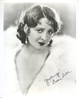 BILLIE DOVE - AUTOGRAPHED SIGNED PHOTOGRAPH