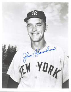 JOHNNY BLANCHARD - AUTOGRAPHED SIGNED PHOTOGRAPH
