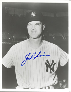 JOHNNY SAIN - AUTOGRAPHED SIGNED PHOTOGRAPH