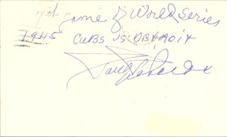 PAUL RICHARDS - AUTOGRAPH NOTE SIGNED