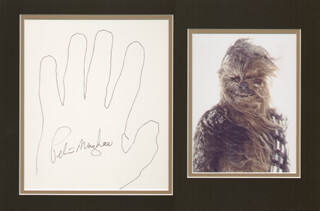 PETER CHEWBACCA MAYHEW - HAND/FOOT PRINT OR SKETCH SIGNED  - HFSID 286369