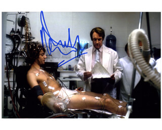 MALCOLM McDOWELL - AUTOGRAPHED SIGNED PHOTOGRAPH