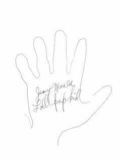 JERRY MAREN - HAND/FOOT PRINT OR SKETCH SIGNED