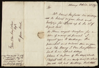 MAJOR GENERAL PHILIP JOHN SCHUYLER - AUTOGRAPH LETTER SIGNED 10/28/1797