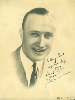 FRANK SILVER - AUTOGRAPHED INSCRIBED PHOTOGRAPH CIRCA 1931
