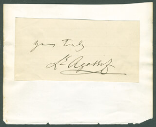 LOUIS AGASSIZ - AUTOGRAPH SENTIMENT SIGNED CIRCA 1871