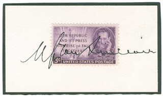 UPTON SINCLAIR - STAMP(S) SIGNED