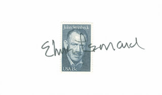 ELMORE J. LEONARD JR. - STAMP(S) SIGNED