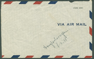 DOUGLAS WRONG WAY CORRIGAN - ENVELOPE SIGNED 08/04/1938