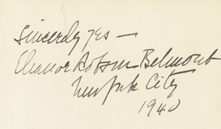 ELEANOR ROBSON BELMONT - AUTOGRAPH SENTIMENT SIGNED 1940
