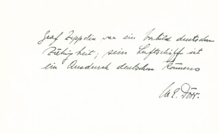 Autographs: WILHELM E. DORR - AUTOGRAPH QUOTATION SIGNED