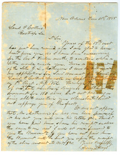 BRIGADIER GENERAL HARRY T. HAYS - AUTOGRAPH LETTER SIGNED 12/31/1855