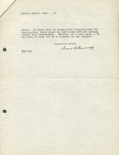 Autographs: FRANK B. KELLOGG - TYPED LETTER SIGNED 10/14/1931