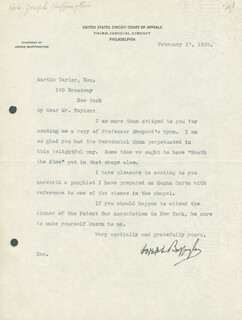 Autographs: JOSEPH BUFFINGTON - TYPED LETTER SIGNED 02/17/1932