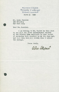 ODELL SHEPARD - TYPED LETTER SIGNED 03/02/1932
