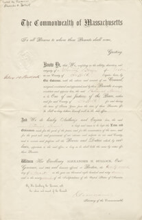 Autographs: ALEXANDER H. BULLOCK - CIVIL APPOINTMENT SIGNED 08/22/1867 CO-SIGNED BY: OLIVER WARNER