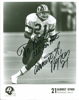 EARNEST BYNER - AUTOGRAPHED INSCRIBED PHOTOGRAPH