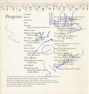 CHUCK BERRY - PROGRAM SIGNED CO-SIGNED BY: CY COLEMAN, IRVING CAESAR, MERCER ELLINGTON, L. RUSSELL BROWN