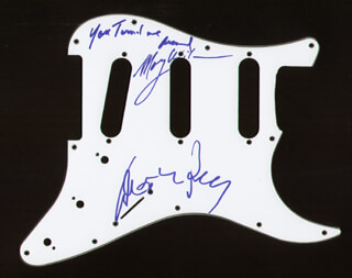 Autographs: DIANA ROSS - PICK GUARD SIGNED CO-SIGNED BY: THE SUPREMES (MARY WILSON)