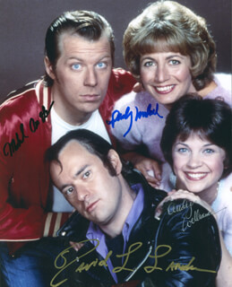 LAVERNE & SHIRLEY TV CAST - AUTOGRAPHED SIGNED PHOTOGRAPH CO-SIGNED BY: MICHAEL McKEAN, DAVID L. LANDER, PENNY MARSHALL, CINDY WILLIAMS