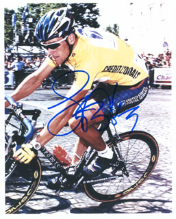 LANCE ARMSTRONG - AUTOGRAPHED SIGNED PHOTOGRAPH