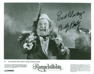 BILLY BARTY - AUTOGRAPHED SIGNED PHOTOGRAPH