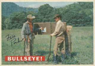 Autographs: FESS PARKER - TRADING/SPORTS CARD SIGNED