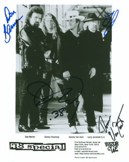 .38 SPECIAL - AUTOGRAPHED SIGNED PHOTOGRAPH CO-SIGNED BY: .38 SPECIAL (DON BARNES), .38 SPECIAL (DANNY CHAUNCEY), .38 SPECIAL (DONNIE VAN ZANT), .38 SPECIAL (LARRY JUNSTROM)