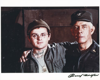 M*A*S*H TV CAST - AUTOGRAPHED SIGNED PHOTOGRAPH CO-SIGNED BY: GARY BURGHOFF, HARRY MORGAN