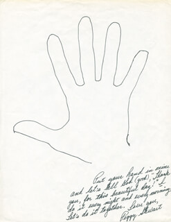 PEGGY STEWART - HAND/FOOT PRINT OR SKETCH SIGNED  - HFSID 286627
