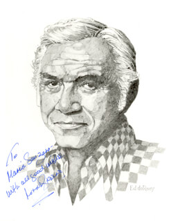 LORNE GREENE - AUTOGRAPHED INSCRIBED PHOTOGRAPH